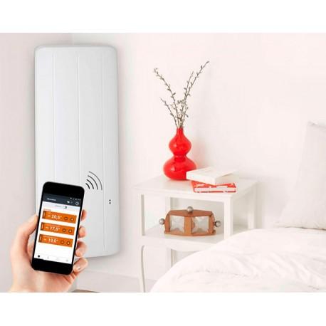 thermor equateur 3 vertical 1000w blanc radiateur lectrique chaleur douce pilotage. Black Bedroom Furniture Sets. Home Design Ideas