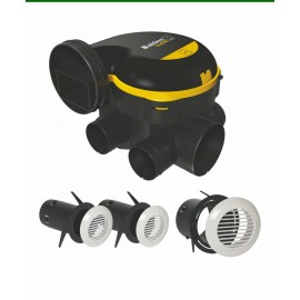 Kit VMC EasyHOME AUTO Aldes + 3 bouches BIP