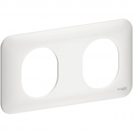 Plaque double - Ovalis - Schneider - S260704