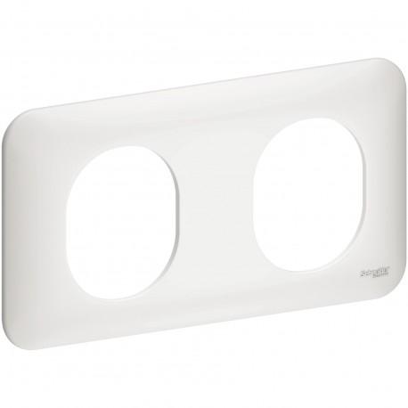 Plaque double - Ovalis - Schneider - S260704