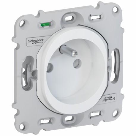 Prise de courant 2P+T sans plaque - Ovalis - Schneider - S261059