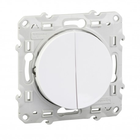 Interrupteur double va et vient - Odace - Schneider - S520214