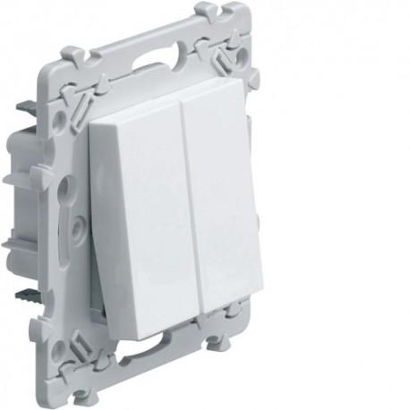 Interrupteur poussoir double - Essensya - Hager - WE044