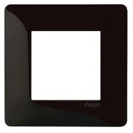 Plaque simple noire - Essensya - Hager - WE401N