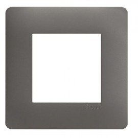 Plaque simple graphite - Essensya - Hager - WE421