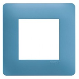 Plaque simple bleu - Essensya - Hager - WE441