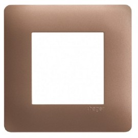 Plaque simple bronze - Essensya - Hager - WE461