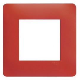 Plaque simple rouge - Essensya - Hager - WE471