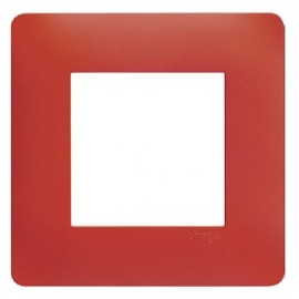 Plaque simple rouge - Essensya - Hager - WE471