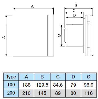 Extracteur S P Unvelvent Decor 100 Ch Design Hygro Tempo Extra Plat 401448